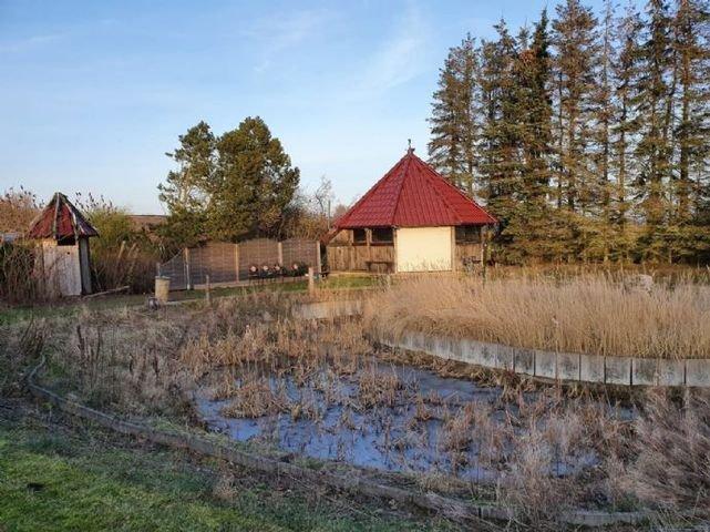 Teich mit Pavillon