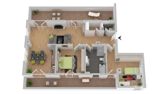 Grundriss große Penthousewohnung