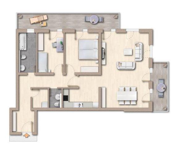 Grundriss Wohnung 21 4. Obergeschoss