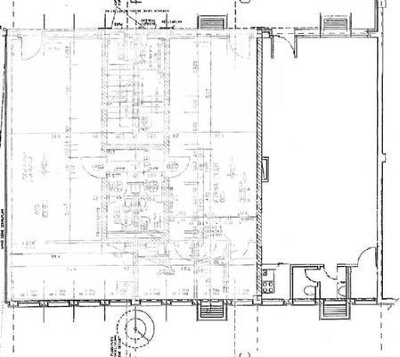 Grundriss mit möglicher Installierung WC, Küche