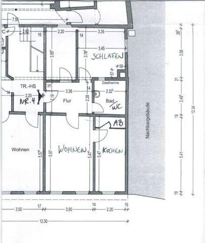Wohnung Nr. 4 Grundrissplan