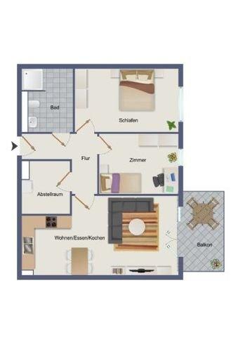 Beispielgrundriss 1. Obergeschoss