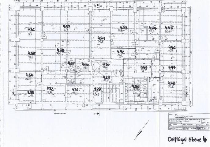 Grundriss Räume 4.32-4.40