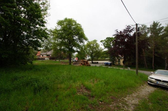 Blick auf das Grundstück vor dem Haupthaus