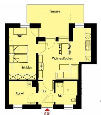 Grundriss Wohnung Nr. 0.01