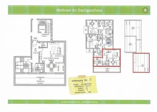 Wohnung 9, 102,47 m² mit Dachterrasse, reserviert