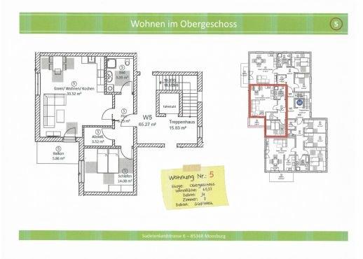 Wohnung 5, 65,27 m² mit Balkon
