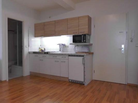 ausgestattete Singleküche