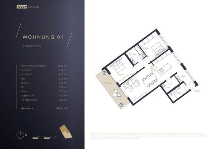 Grundriss Wohnung 01