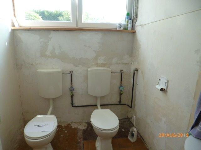 Toilette im Gewerberaum