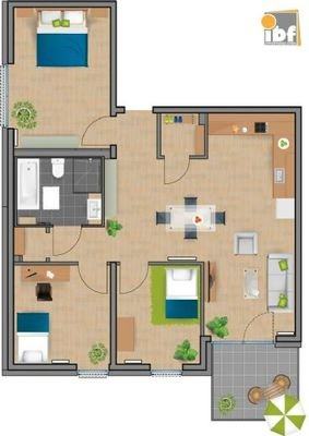 Grundriss WE 25 Haus 3.2 Alsdorf am Weiher
