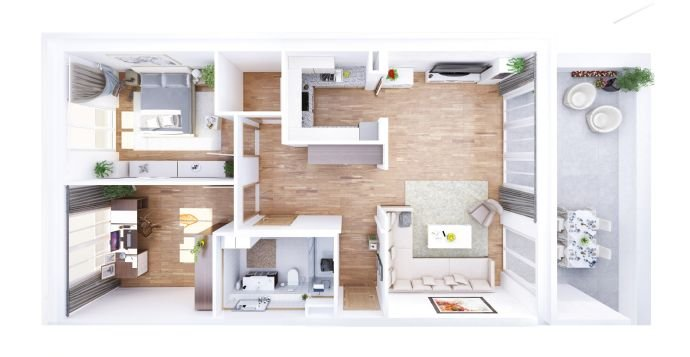 Sorglos-Wohnung (Beispiel)