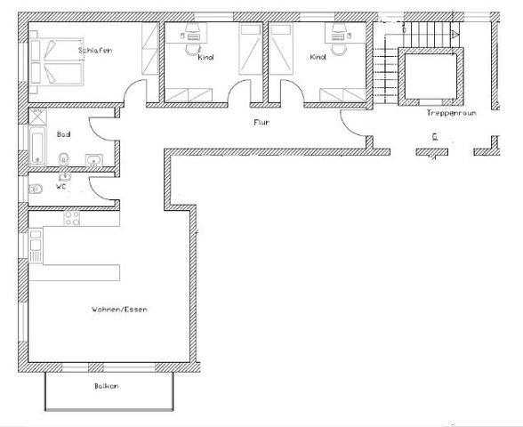 Grundriss ETW 4 Zimmer