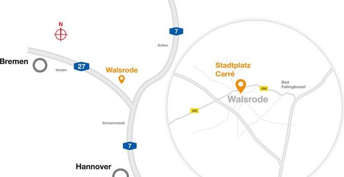 Lageplan Niedersachsen