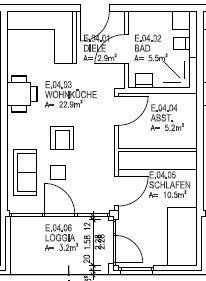 Whg. 7 50 m²