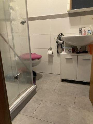 Dusche 1-Zimmerwohnung vermietet.