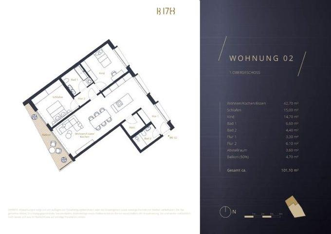 Grundriss Wohnung 02