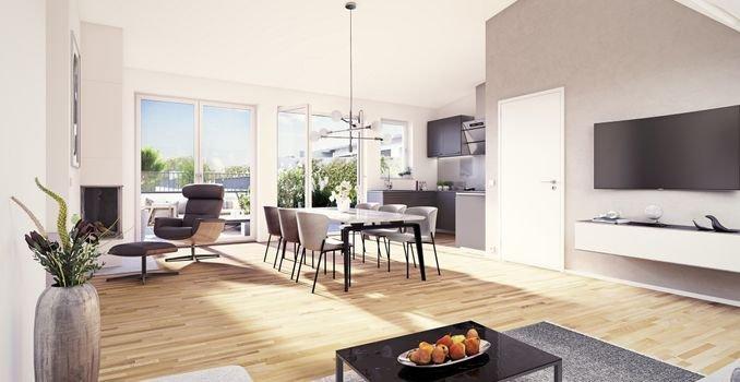 eins8eins Penthousewohnung mit großer Dachterrasse