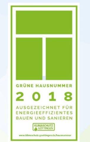 Die grüne Hausnummer - Auszeichnung