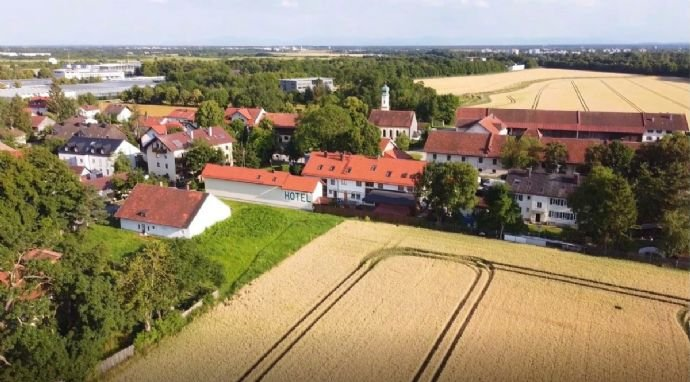 Hotel am Hachinger Bach Luftansicht - Richtung Süd