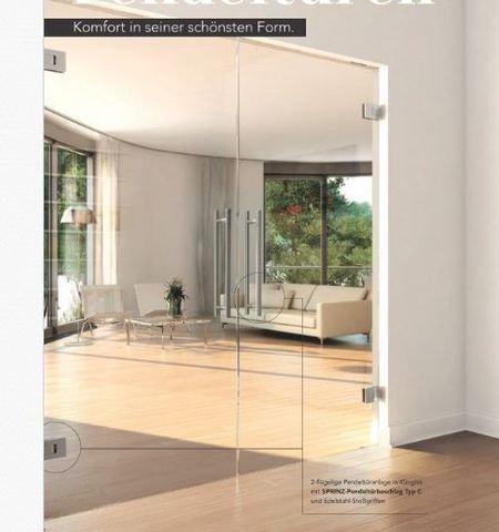 Doppel Pendeltür Glas