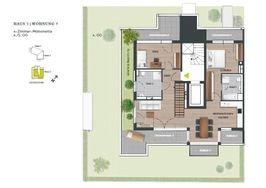 Grundriss 4. OG - Penthouse