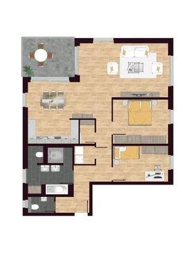 Luisen Suiten Grundrisse W01,W04