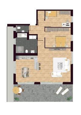 Luisen Suiten Grundriss W08