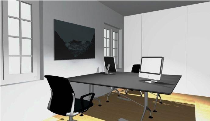 Visualisierung Büroraum geschlossen