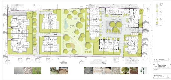 Außenanlagenplan Gustav´s Hofgärten