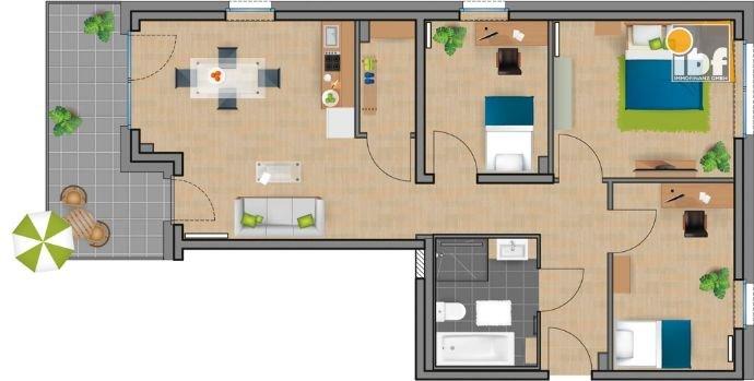Grundriss WE 13 Haus 3.1 Alsdorf am Weiher