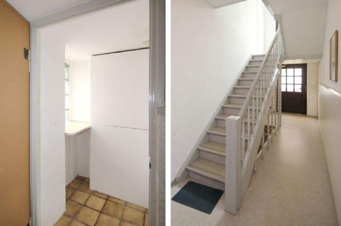 Abstellraum im Hausflur und Hauseingang