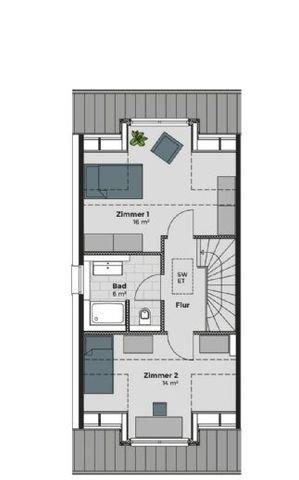Dachgeschoss Alternative 2