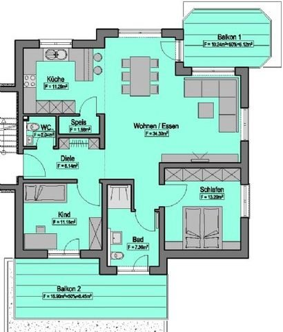 Wohnung-Nr. 6 = 100,64m²