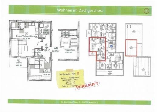 Wohnung 8, 68,02 m² mit Balkon, verkauft