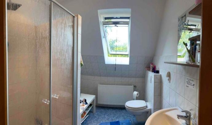 Gemeinschaftliches Badezimmer mit Dusche und WC