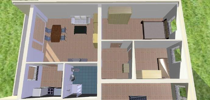 3D Modell mit Einrichtungsbeispiel Ansicht 2