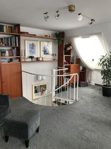 Wohnbereich mit Wendeltreppe