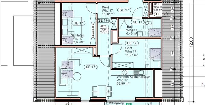 Dachgeschoss Wohnungs-Nr. 17