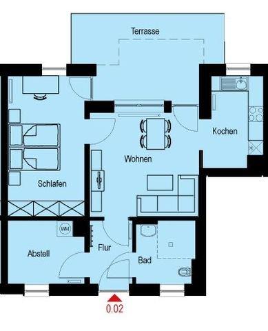 Grundriss Wohnung Nr. 0.02