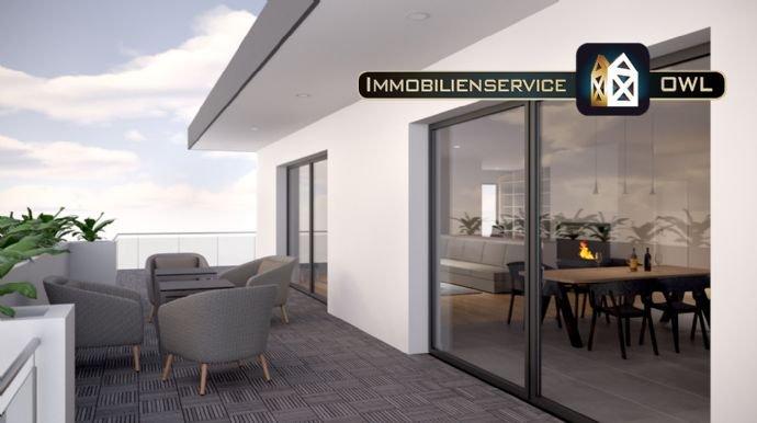 Penthouse Balkon mit Schiebelementen