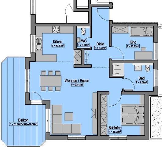 Wohnung-Nr. 4 = 95,33m²