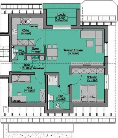 Wohnung-Nr. 9 = 82,23m² + 27,43m²