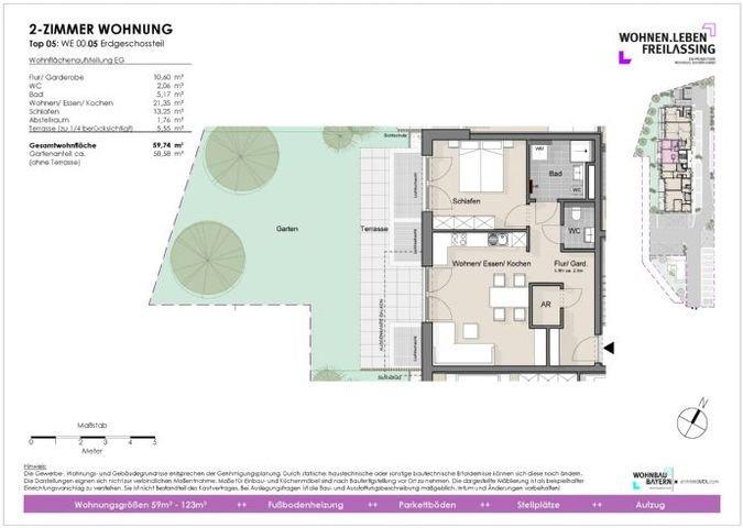 Grundriss Wohnung Erdgeschoß