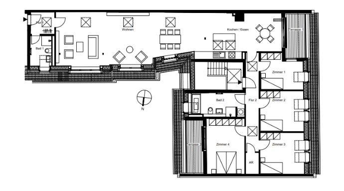 Grundriss Wohnung 45