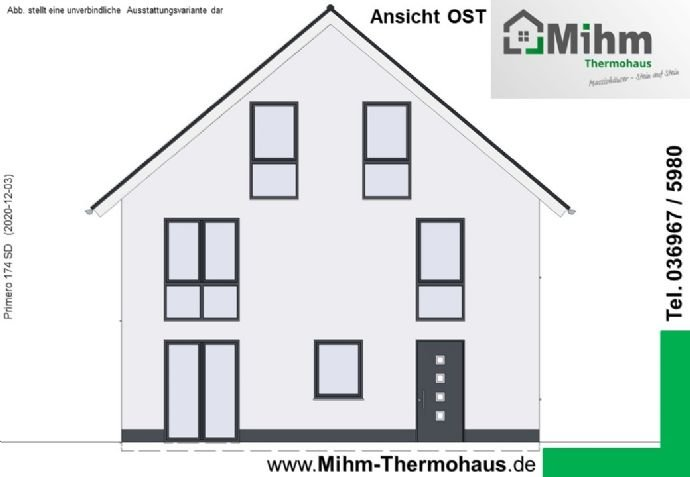 Mihm-Thermohaus_Primero174SD-Ost_Ansicht-Ost