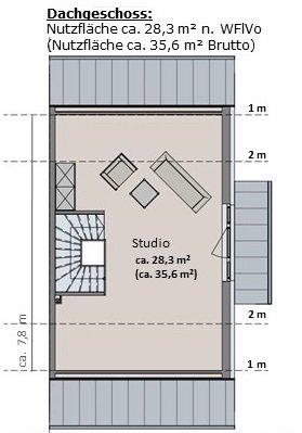 Haus 1 - Grundriss Dachgeschoss