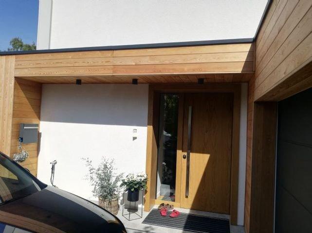 Eingangsbereich eines erstellten Hauses