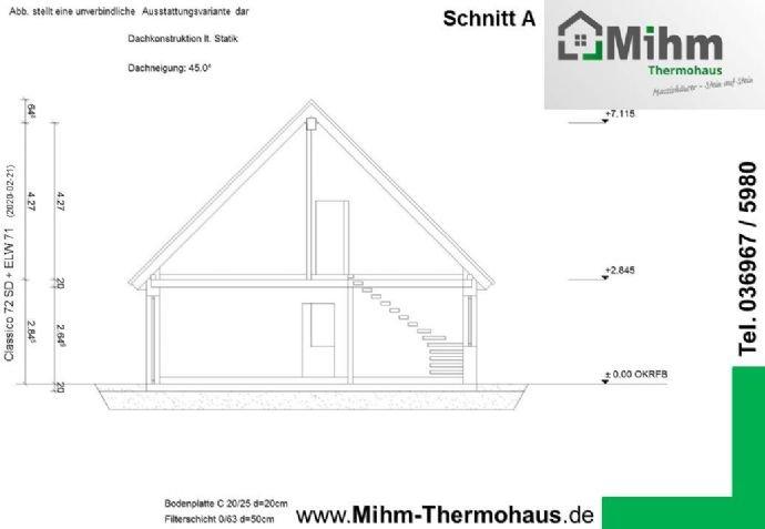Mihim-Thermohaus_Classico72SD+ELW71_Schnitt
