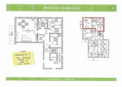 Wohnung 4, 86,99 m² mit Balkon